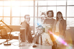 Group of successfull business group meeting Royalty Free Stock Image