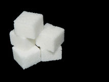 Group of sugar cubes Royalty Free Stock Images