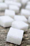 Group of sugar white cubes Royalty Free Stock Photography
