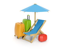 A group of suitcases Royalty Free Stock Images