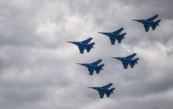 Group of Sukhoi SU-27 planes Stock Image