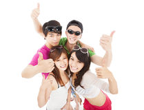 Group of summer young people Stock Images