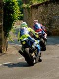 Sport motorbikes at Bergamo Historic Grand Prix 2017 Royalty Free Stock Images