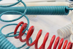 The group of suspension coil spring Stock Image