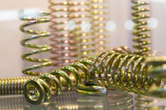 The group of suspension coil spring Stock Photos