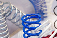 The group of suspension coil spring Royalty Free Stock Photography