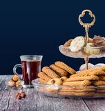 Group of Sweet Cookies with Sugar royalty free stock image