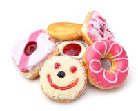 Group of sweet donuts Royalty Free Stock Image