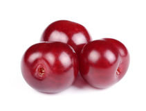 Group of Sweet Fresh Cherries. Isolated on White Background Stock Photography