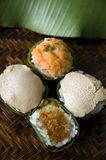 Group of sweet sticky rice royalty free stock photography