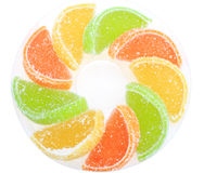 Group of sweets as citrus fruits Stock Photography