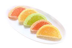 Group of sweets as citrus fruits Royalty Free Stock Photos