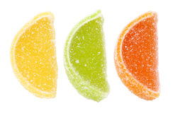 Group of sweets as citrus fruits Royalty Free Stock Photography