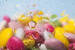 Group of  sweets. Group of multicolored sweets , with drops of water Royalty Free Stock Image
