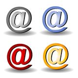 Group of @ Symbols Clip Art Royalty Free Stock Image