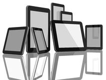 Group of Tablet Computers Stock Image