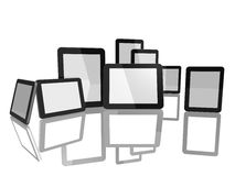 Group of Tablet Computers Royalty Free Stock Photo