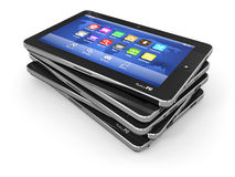 Group of tablet pc on white isolated background Royalty Free Stock Images