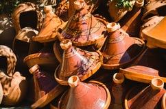 Group of tajine, moroccan pots Stock Image