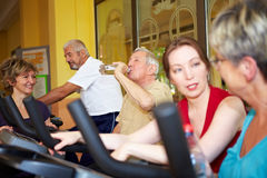 Group taking spinning class in gym Stock Photography