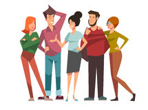 Group of talking friends Royalty Free Stock Images