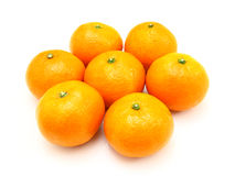 Group a tangerine Stock Photography