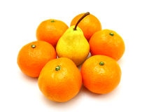 Group a tangerine Stock Images