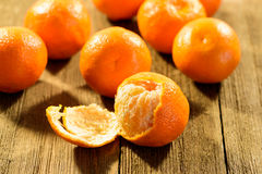 Group of Tangerines Stock Image