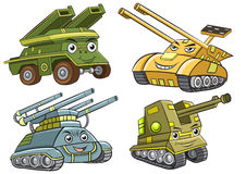 A group of  tank cartoon Stock Images