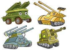 A group of  tank cartoon Stock Images