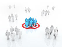 Group Target Market concept. 3d render Group Target Market concept (close-up Royalty Free Stock Photography