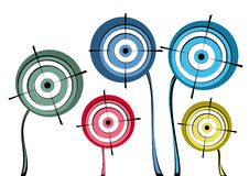 Group targets. Group of targets displayed like flowers Royalty Free Stock Image