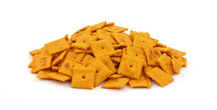 Group of Tasty Cheese Crackers Royalty Free Stock Photos