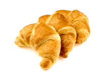Group of tasty croissants in studio on white Stock Photo