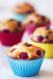 Group of tasty muffins placed on table Stock Photography