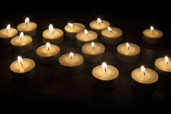 Group of Tea Candles Stock Photo