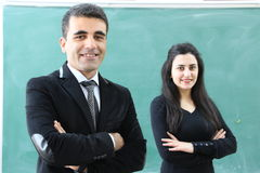 Group Of Teachers In Classroom. Stock Photography