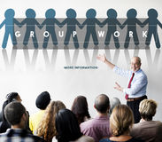 Group Team Work Organization Concept Stock Image