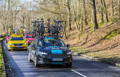 Group of Technical Cars - Paris-Nice 2017 royalty free stock image