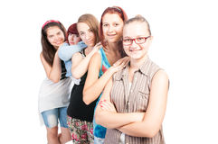 Group of teen girls smiling Royalty Free Stock Photography