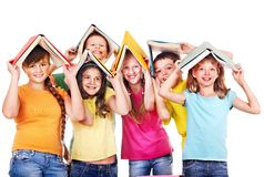 Group of teen people. Royalty Free Stock Photos