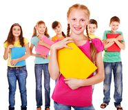 Group of teen people. royalty free stock image