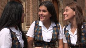 Student Teen Girls Socializing Royalty Free Stock Images