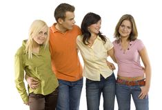 Group of teenage friends stock image
