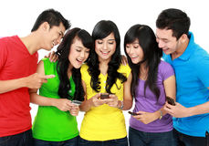 Group of Teenage Friends Royalty Free Stock Photos