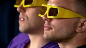 Group Of Teenage Friends Watching 3D Film In stock video footage