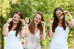 Group of teenage girl Royalty Free Stock Photo