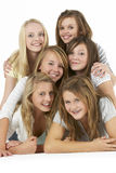 Group Of Teenage Girlfriends Royalty Free Stock Photos
