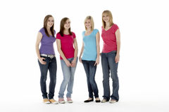 Group Of Teenage Girlfriends Royalty Free Stock Images
