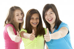 Group of Teenage Girlfriends Stock Photos